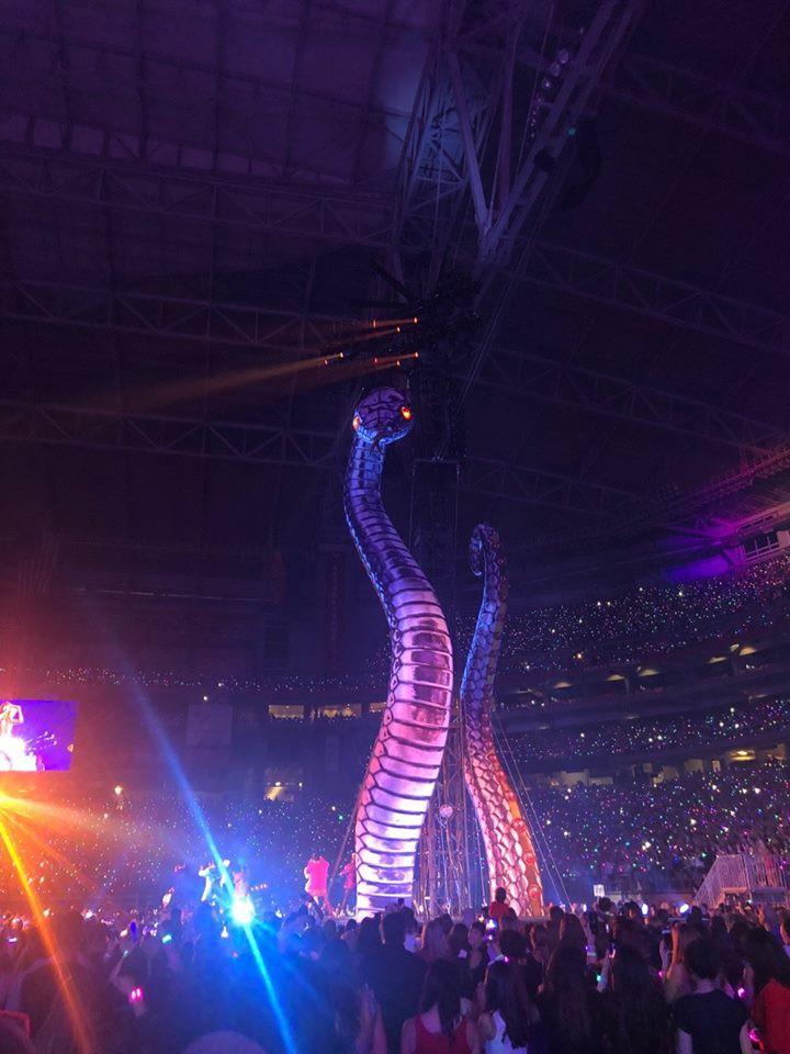 Fancam cận cảnh sân khấu rắn khổng lồ ngoe nguẩy khi Taylor Swift biểu diễn - Ảnh 6.
