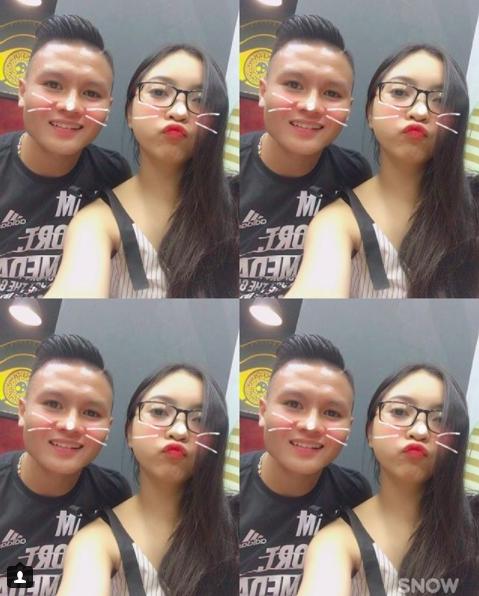Loạt khoảnh khắc tình bể bình của Quang Hải và bạn gái xinh như hot girl - Ảnh 1.