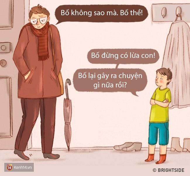 Bộ tranh: Chuyện gì sẽ xảy ra khi bố mẹ và con cái đổi tính cho nhau? - Ảnh 11.