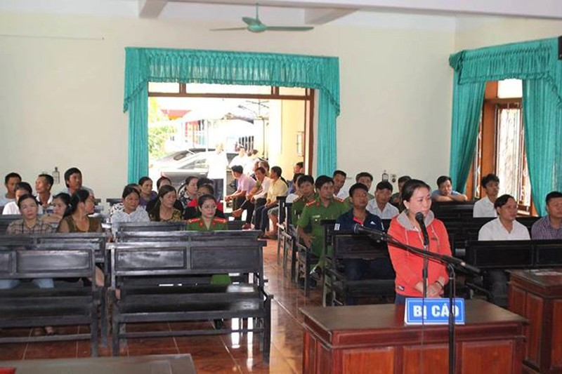 Hà Tĩnh: Nữ tiểu thương hắt tiết lợn vào người Chủ tịch huyện bị phạt 4 tháng tù giam - Ảnh 1.