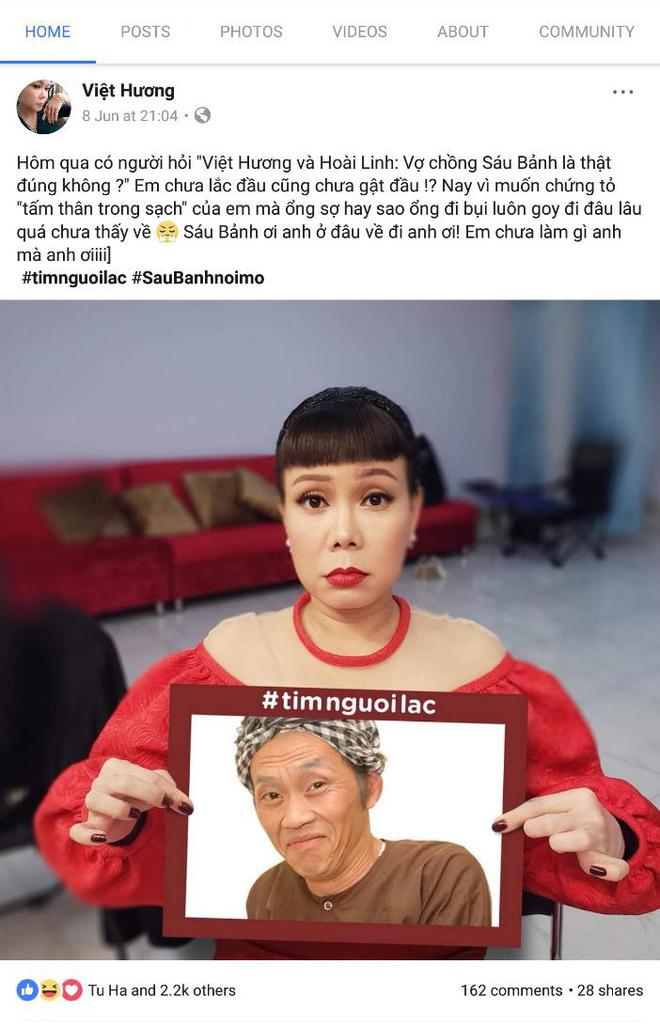 Danh hài Việt Hương, Bảo Anh, Khởi My đồng loạt đăng tin tìm người lạc - Ảnh 1.