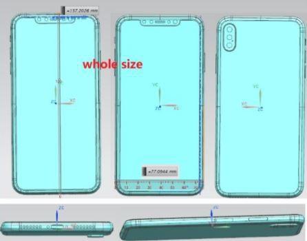 Lộ diện bản vẽ thiết kế xác nhận iPhone X Plus sẽ sử dụng cụm 3 camera sau giống như Huawei P20 Pro - Ảnh 1.