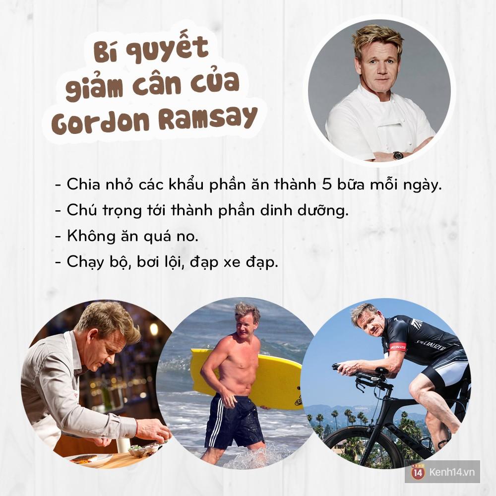 Làm thế nào mà một người yêu đồ ăn như đầu bếp Gordon Ramsay lại có thể giảm được hơn 22kg? - Ảnh 5.