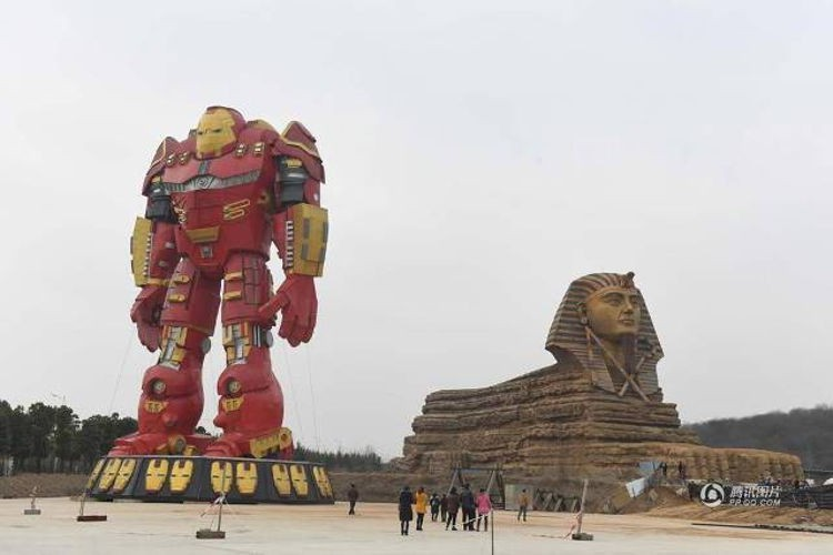 Ai Cập đệ đơn khiếu nại lên UNESCO vì Trung Quốc lại lén xây tượng nhân sư fake 1 to đẹp hơn cả bản gốc - Ảnh 3.