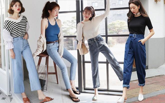 Nàng nào chân ngắn thử ngay mấy dáng quần jeans này, nhìn cao thêm cả chục phân chứ chẳng ít - Ảnh 1.