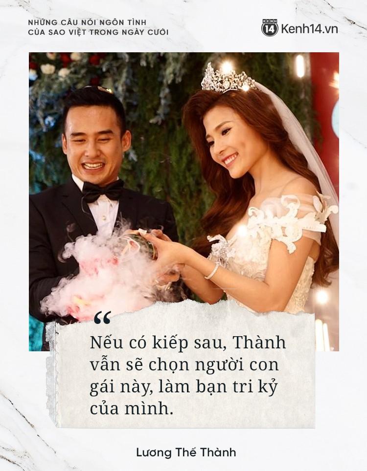 """""""Lụi tim"""" với những câu nói đậm chất ngôn tình của nửa kia dành tặng cho sao Việt trong ngày cưới - Ảnh 10."""