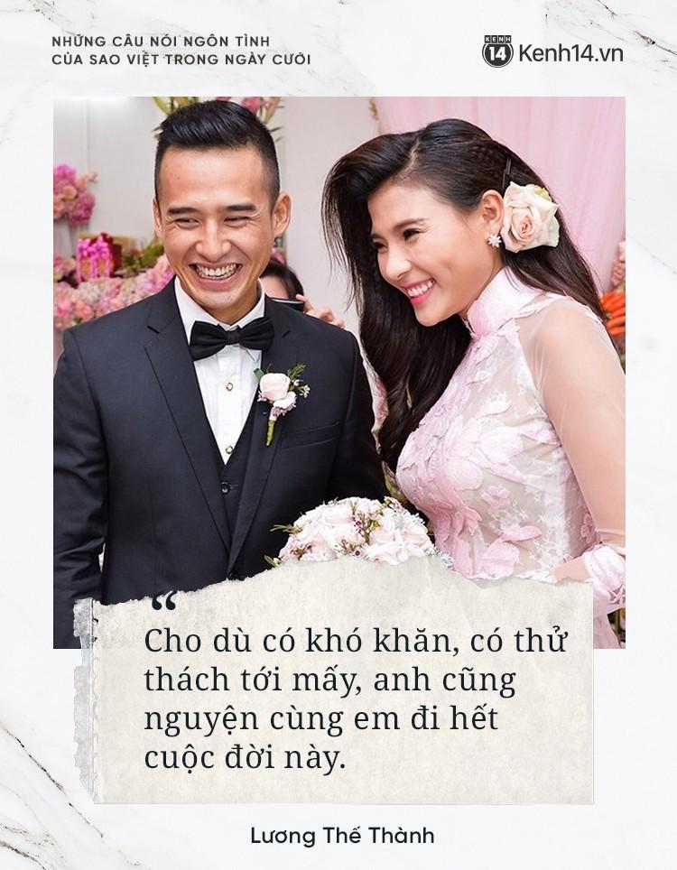 """""""Lụi tim"""" với những câu nói đậm chất ngôn tình của nửa kia dành tặng cho sao Việt trong ngày cưới - Ảnh 9."""
