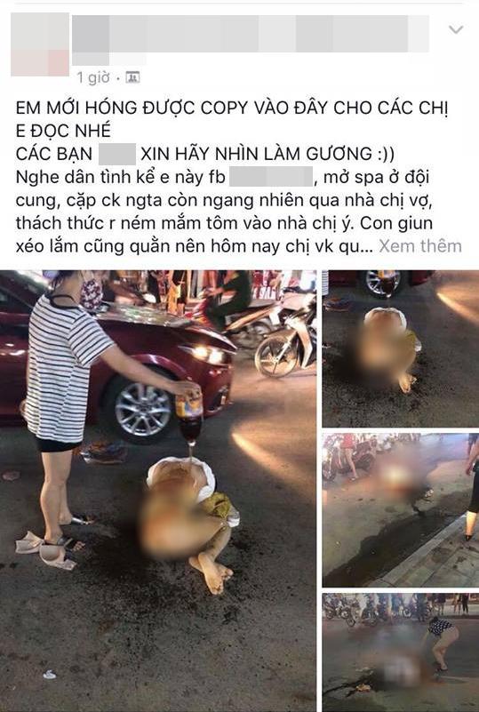 Thanh Hóa: Cô gái bị nhóm phụ nữ đánh ghen dã man giữa đường, lột đồ rồi đổ nước mắm, muối ớt lên người - Ảnh 3.
