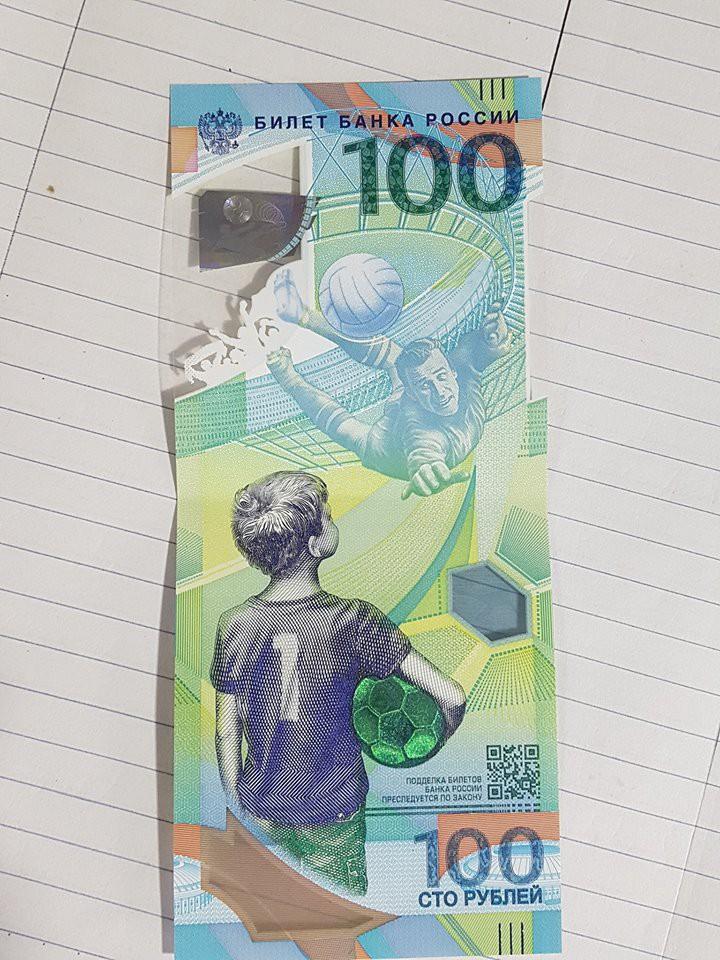 Cư dân mạng thi nhau khoe ảnh sở hữu tờ tiền 100 rúp phiên bản World Cup đến từ nước Nga - Ảnh 1.