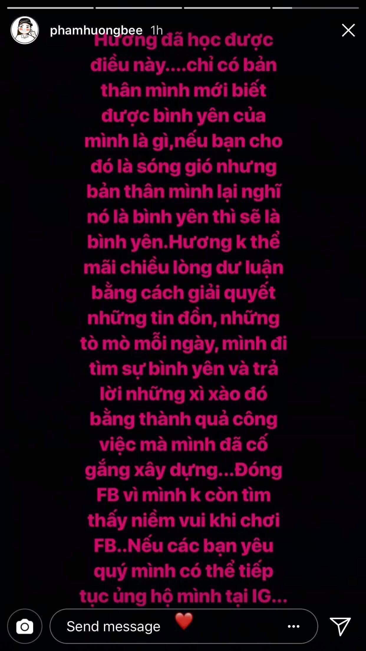 Đây là lí do khiến Phạm Hương quyết định không còn sử dụng Facebook - Ảnh 1.