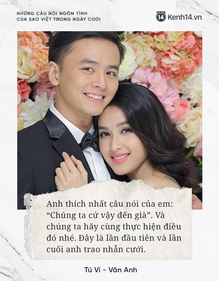 """""""Lụi tim"""" với những câu nói đậm chất ngôn tình của nửa kia dành tặng cho sao Việt trong ngày cưới - Ảnh 6."""