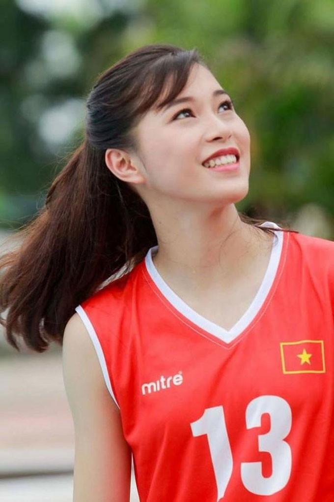 Hoa khôi bóng chuyền 16 tuổi Đặng Thu Huyền hâm mộ Bùi Tiến Dũng - Ảnh 9.