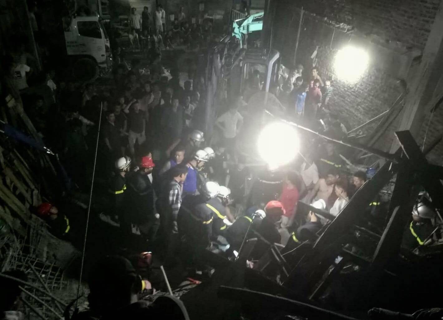 Hà Nội: Sập công trình xây dựng, 1 người bị trần bê tông đè lên người lấp tử vong - Ảnh 1.