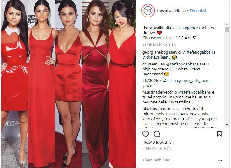 Dù có mặc váy của Dolce&Gabbana thì Selena Gomez vẫn bị Stefano Gabbana - NTK của hãng chê bai như thường - Ảnh 1.