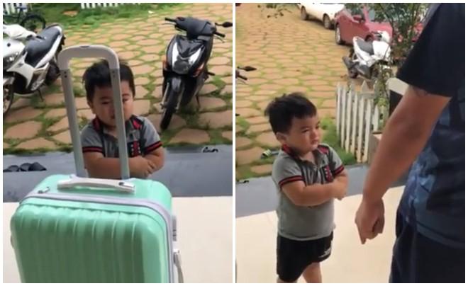 Clip: Cậu bé vừa nức nở khóc vừa thu dọn quần áo vào valy, đòi lên xe ô tô về nhà ngoại khi bị ba trêu nói đuổi ra khỏi nhà - Ảnh 3.