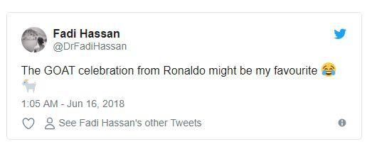Ngộ nghĩnh khoảnh khắc Ronaldo vuốt râu ăn mừng: Đây là chiến thư CR7 gửi tới Messi? - Ảnh 3.