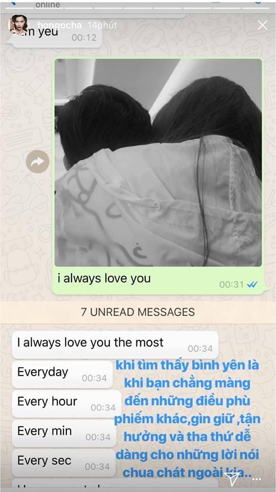 """""""Tan chảy"""" với lời nhắn ngọt ngào Kim Lý gửi tới Hà Hồ: """"Anh yêu em từng giờ, từng phút, từng giây"""" - Ảnh 1."""