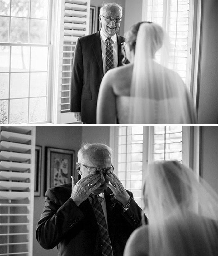 Những hình ảnh xúc động chứng minh rằng, người đàn ông hạnh phúc nhất trong ngày cưới chính là bố của cô dâu 16