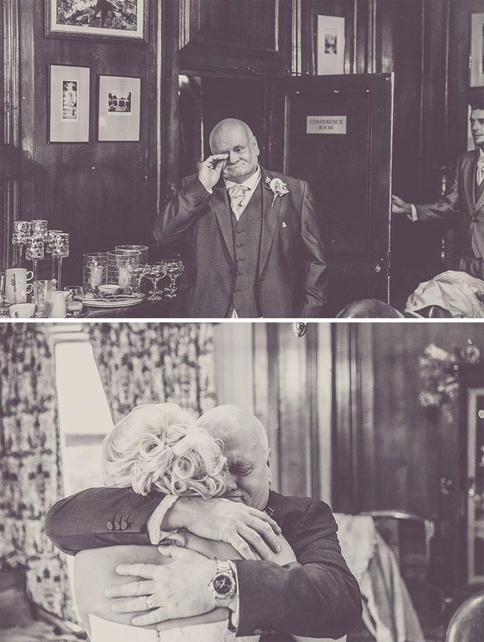 Những hình ảnh xúc động chứng minh rằng, người đàn ông hạnh phúc nhất trong ngày cưới chính là bố của cô dâu 19