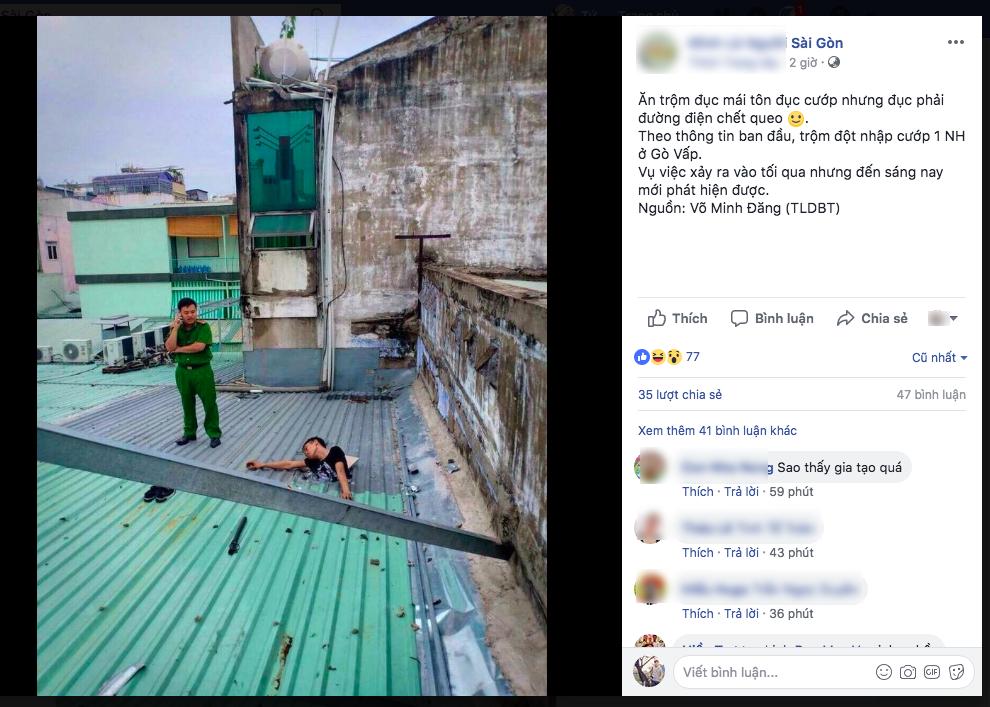 Sự thật vụ nam thanh niên leo mái nhà ăn trộm, đục phải đường điện tử vong ở Sài Gòn - Ảnh 1.