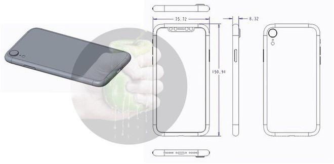 Lộ bản vẽ thiết kế và ảnh dựng của 3 mẫu iPhone 2018 - Ảnh 1.