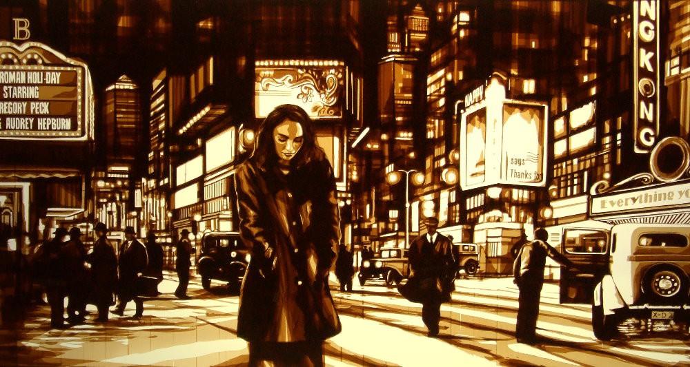 Những tác phẩm của Max Zorn - họa sĩ trẻ chỉ thích vẽ tranh bằng băng dính - Ảnh 2.