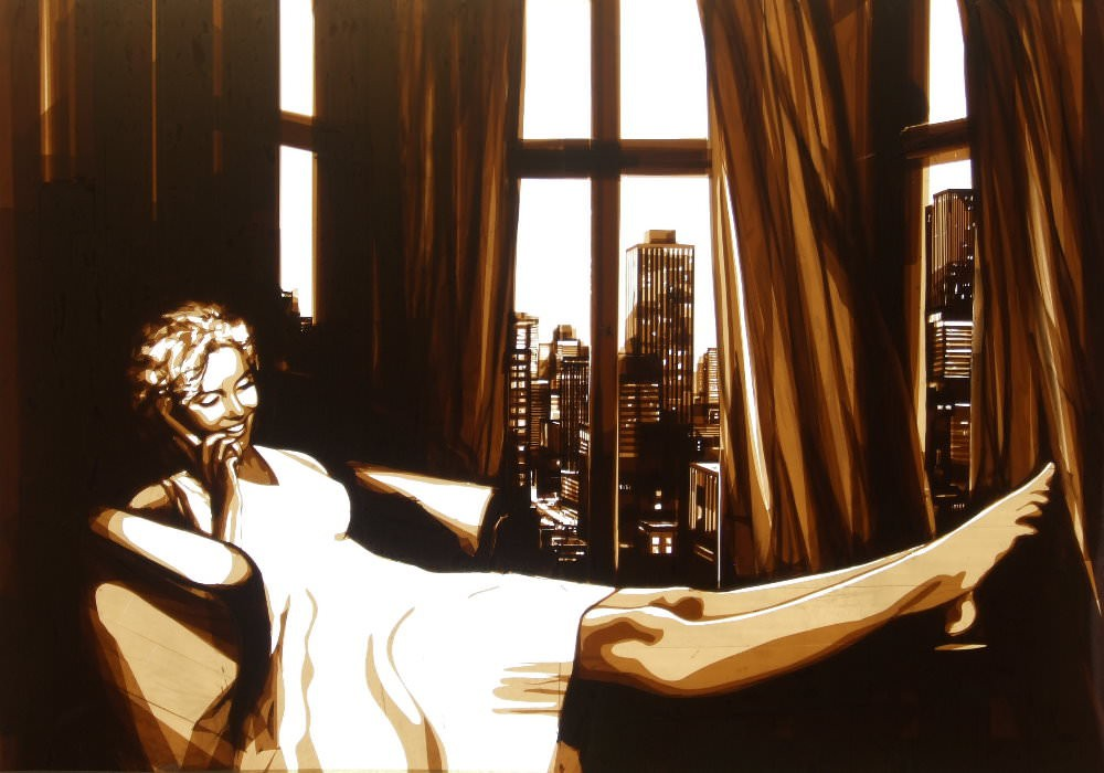 Những tác phẩm của Max Zorn - họa sĩ trẻ chỉ thích vẽ tranh bằng băng dính - Ảnh 3.