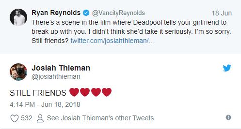 Bất ngờ bị đá sau khi xem Deadpool 2, chàng trai được đích thân Ryan Reynolds xin lỗi - Ảnh 3.