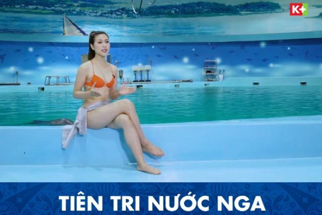 Dẫn World Cup, MC mặc bikini trên sóng truyền hình bị chỉ trích dữ dội- Ảnh 1.