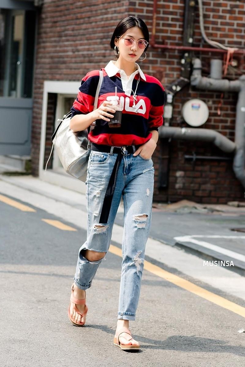 Toàn đồ đơn giản nhưng lại có những cú twist chẳng ai nghĩ ra, street style của giới trẻ Hàn sẽ khiến bạn phục sát đất - Ảnh 6.