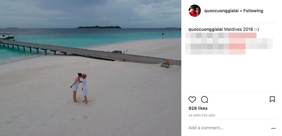 Khoá môi ngọt ngào ở Maldives, bạn bè nghi Cường Đô La và Đàm Thu Trang đi chụp ảnh cưới - Ảnh 1.