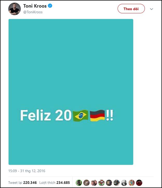 Trai đẹp Toni Kroos bị dân mạng đào mộ status nói xấu Brazil, đồng loạt chế giễu sau khi Đức thua - Ảnh 1.