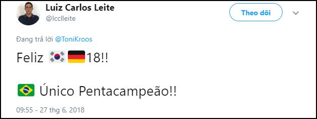 Trai đẹp Toni Kroos bị dân mạng đào mộ status nói xấu Brazil, đồng loạt chế giễu sau khi Đức thua - Ảnh 2.