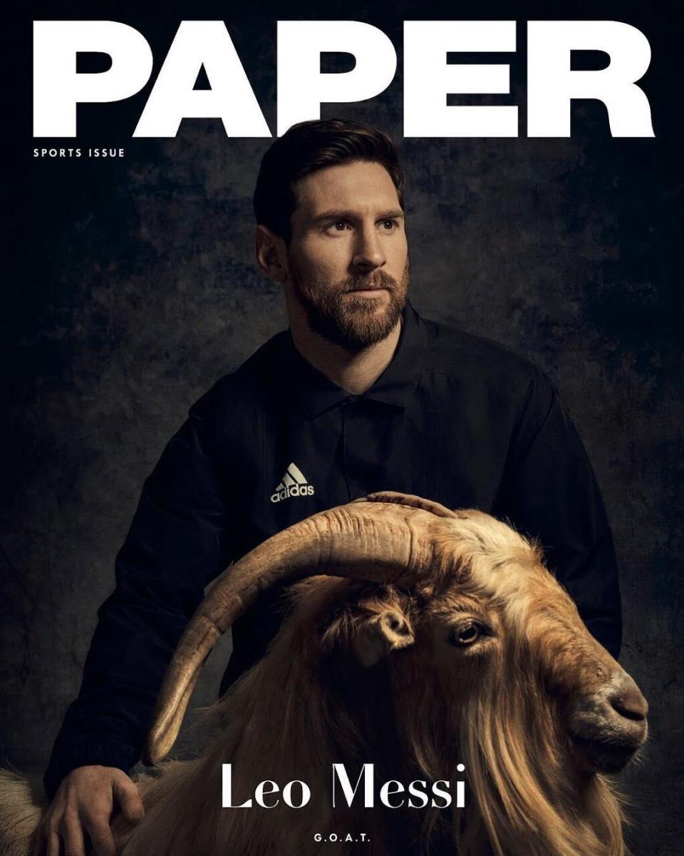 Messi có buổi chụp hình kỳ lạ cùng chú dê trước thềm World Cup 2018 - Ảnh 1.