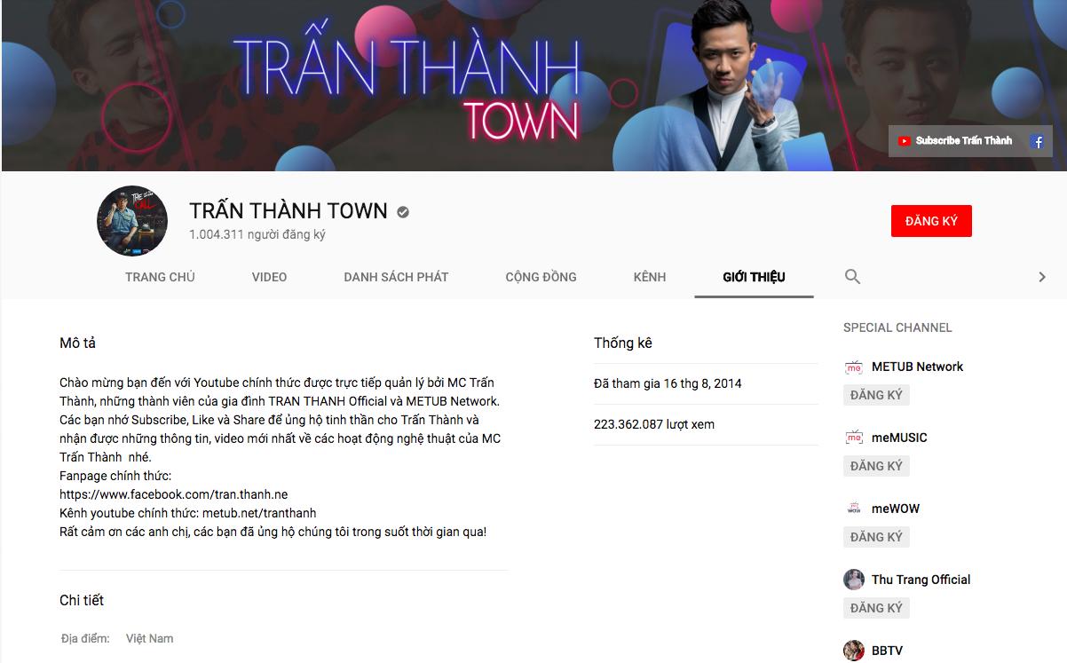 Sau Sơn Tùng M-TP, Trấn Thành là nghệ sĩ Việt tiếp theo nhận nút vàng từ Youtube - Ảnh 1.