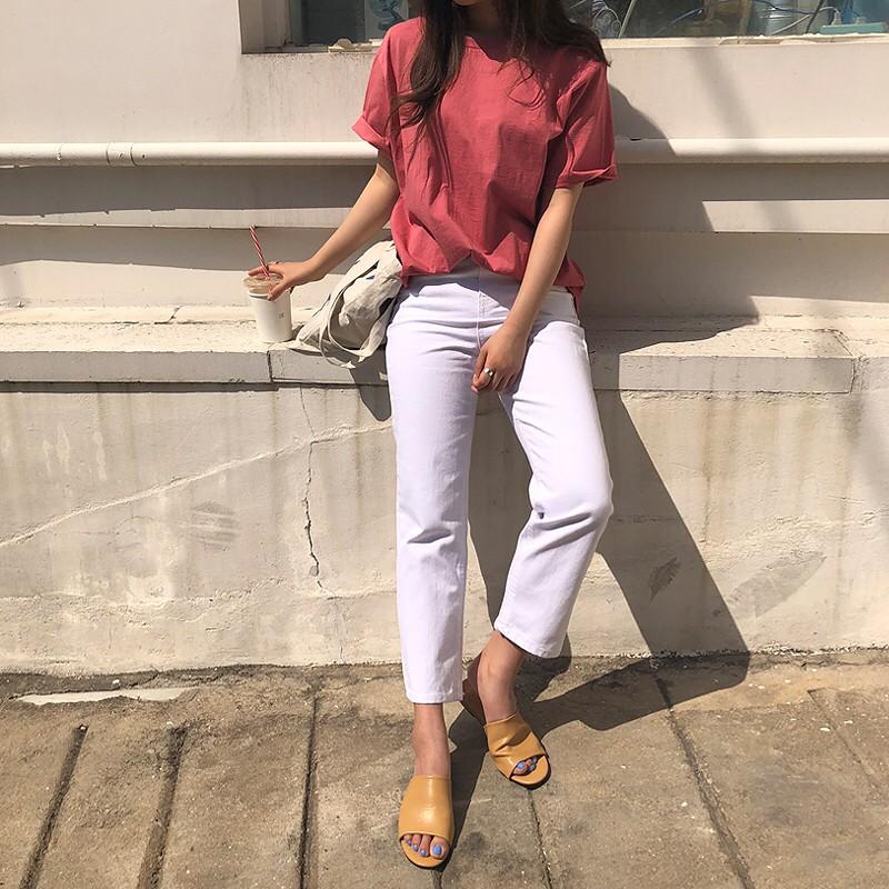 Nếu đã chán jeans xanh hay đen cơ bản, bạn hãy sắm ngay jeans trắng - chiếc quần hot hit của mùa hè này - Ảnh 5.