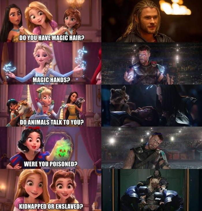Fan Marvel chắc sẽ khóc thét nếu phát hiện ra Thần Sấm Thor cũng là một công chúa Disney! - Ảnh 1.