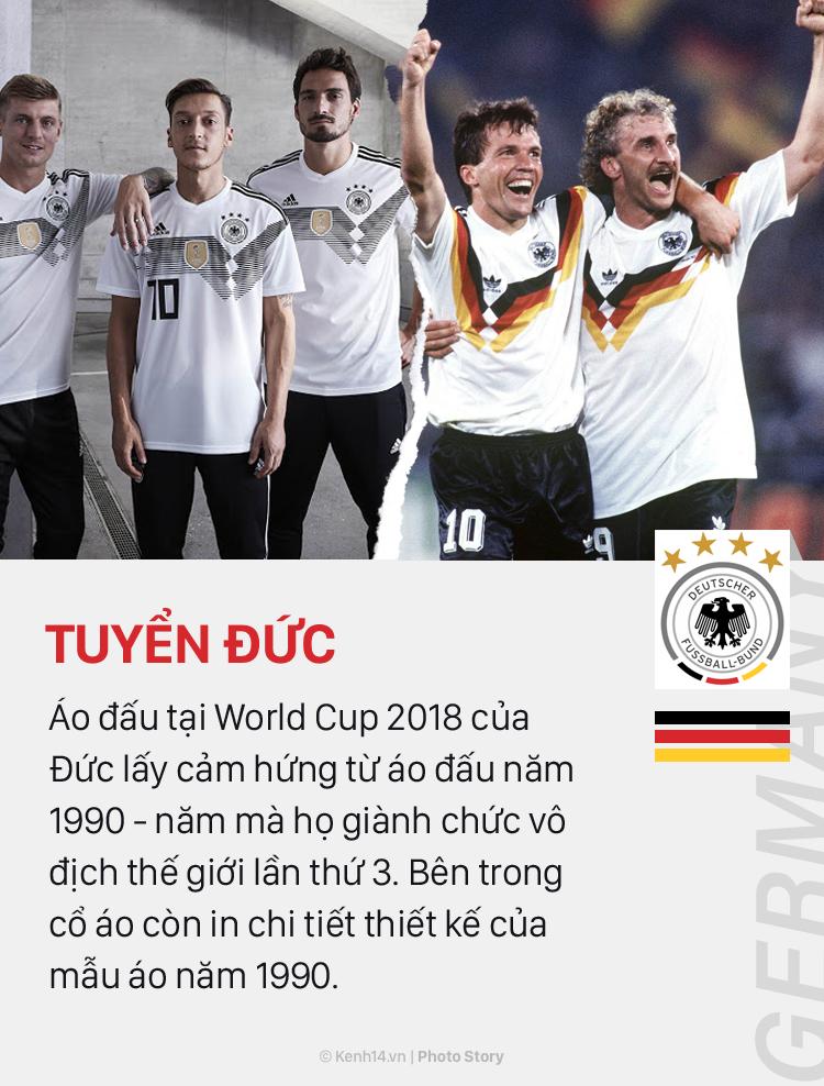 Áo đấu ở World Cup 2018: Khi mốt thời trang quay vòng - Ảnh 1.