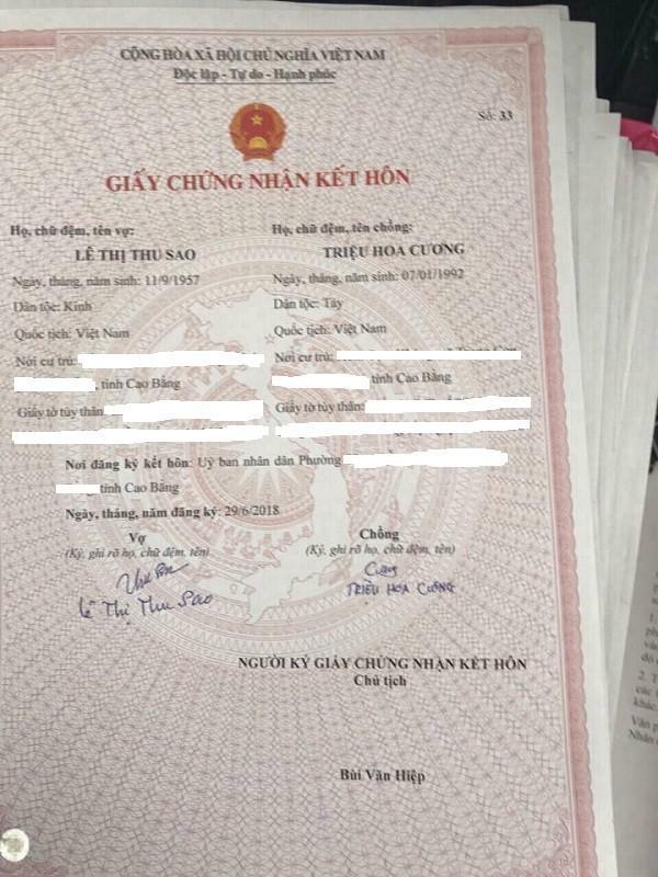 Xác định người chụp ảnh giấy đăng ký kết hôn của cô dâu 61 tuổi chú rể 26 tuổi - Ảnh 2.