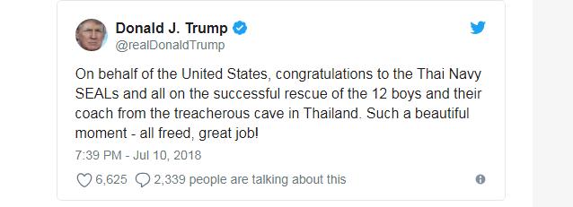 Nguyên thủ thế giới đồng loạt chúc mừng chiến dịch giải cứu đội bóng Thái Lan thành công - Ảnh 4.