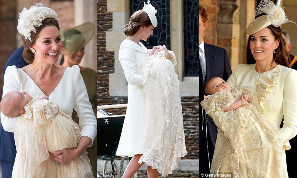 Điểm đặc biệt trong trang phục mà Công nương Kate và Hoàng tử út Louis diện trong buổi lễ rửa tội - Ảnh 5.