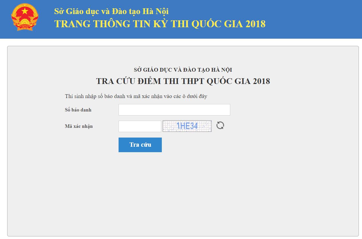 HOT: Chính thức công bố điểm thi THPT Quốc gia 2018 - Ảnh 1.