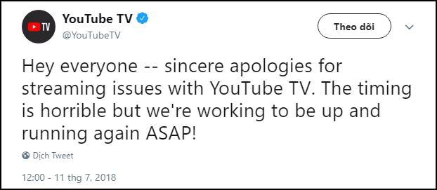 Livestream Anh-Croatia bị sập suốt 40 phút trên YouTube TV, dân tình chỉ còn biết kêu trời - Ảnh 2.