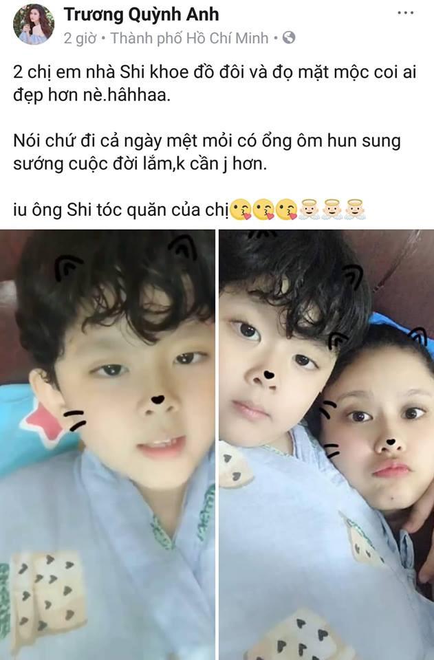 Khoe ảnh với con trai, Trương Quỳnh Anh khẳng định không cần gì hơn sau khi Tim xác nhận chuyện ly hôn - Ảnh 1.