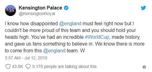 Dù thất bại trước Croatia, đội tuyển Anh vẫn được bà Theresa May và hoàng tử William hết lòng khen ngợi - Ảnh 3.