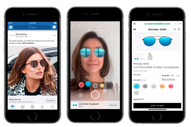 Facebook chuẩn bị cho ra mắt một loại quảng cáo mới, cho phép thử quần áo ngay trên News Feed - Ảnh 1.
