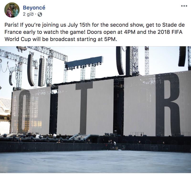 Tâm lí như Beyoncé - Jay Z: Mở cửa concert sớm cho fan xem chung kết World Cup - Ảnh 1.