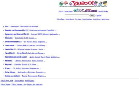 Giao diện quê mùa một thời của 7 website vô cùng nổi tiếng