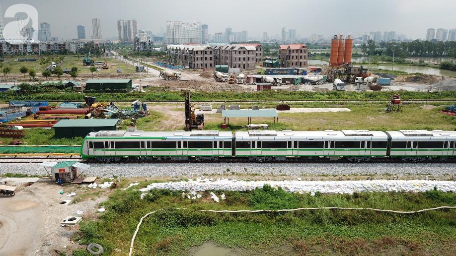 Tàu điện tuyến Cát Linh - Hà Đông chính thức đóng điện lưới Quốc Gia để chạy thử - Ảnh 6.