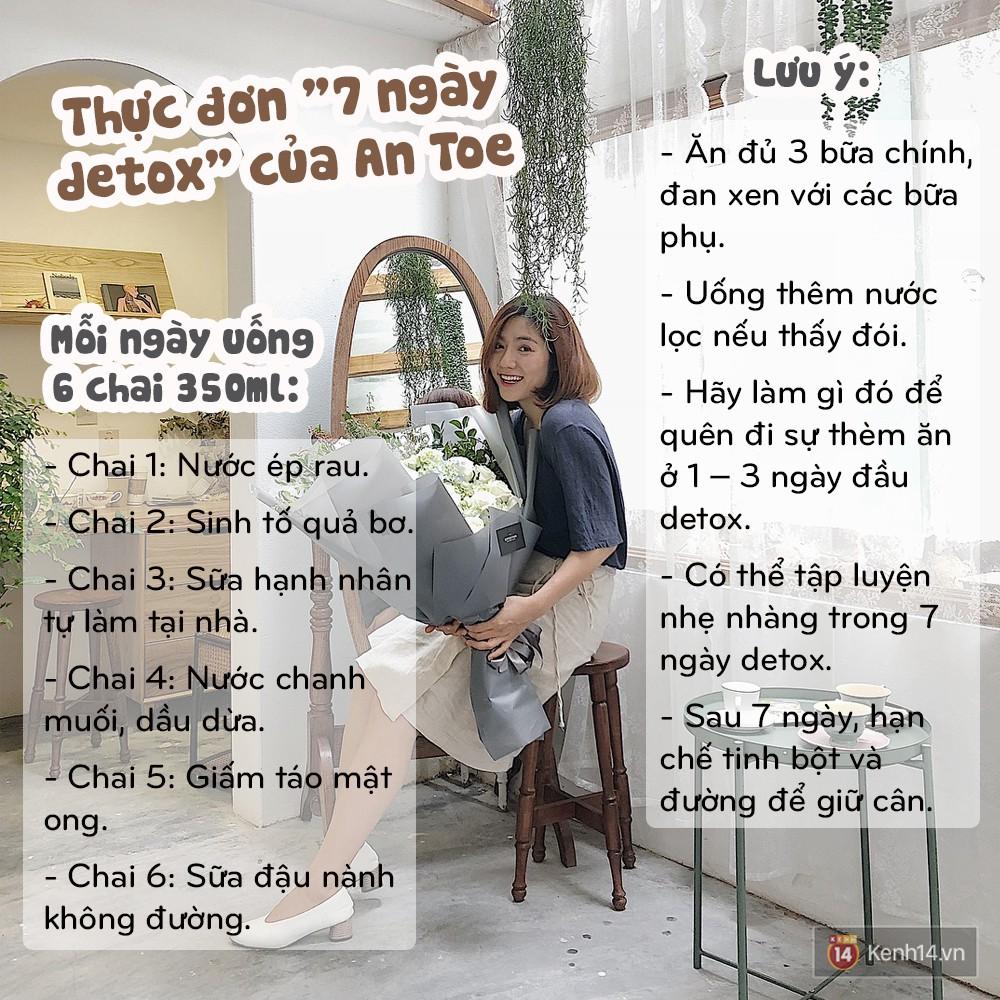 Học ngay thực đơn 7 ngày detox giúp An Toe giảm đến 4kg và 6cm vòng bụng - Ảnh 15.